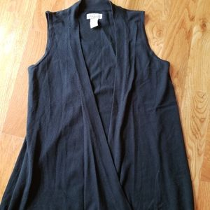 Women black vest throwover